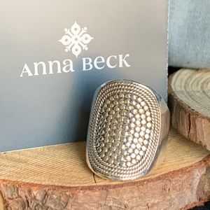 Anna Beck Retiree Saddle Ring Silver